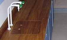 iroko hard wood worktops