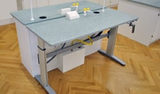 height adjustable tables with services
