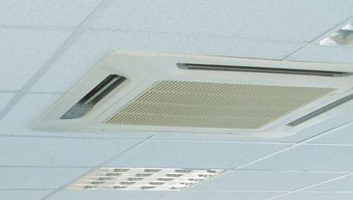 ceiling mounted air con heat pumps