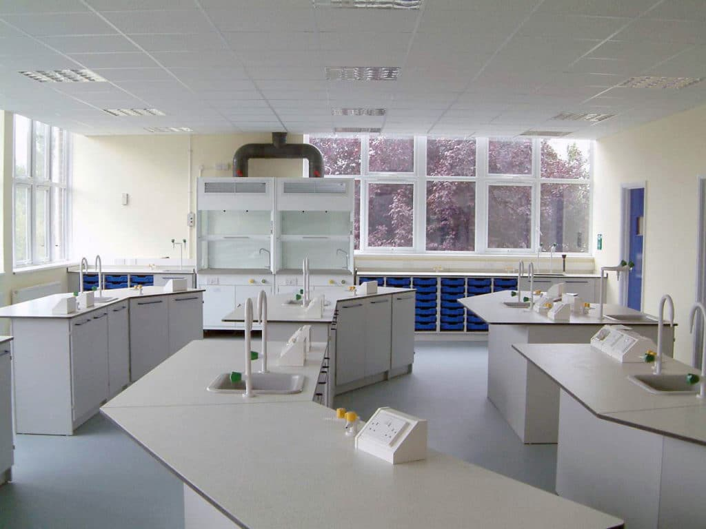 fixed lab fume cupboard for schools