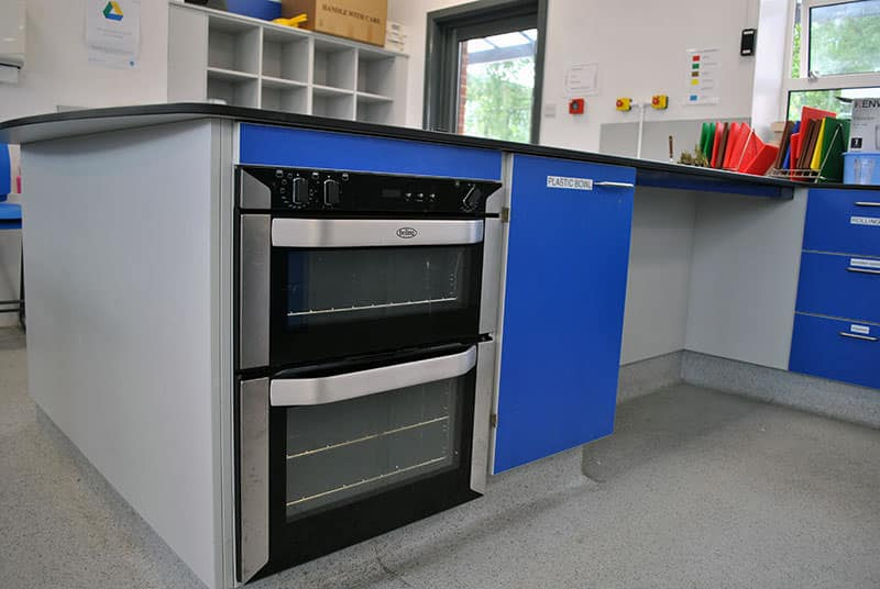 Food technology classroom with under bench ovens