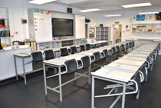 general school tables classroom
