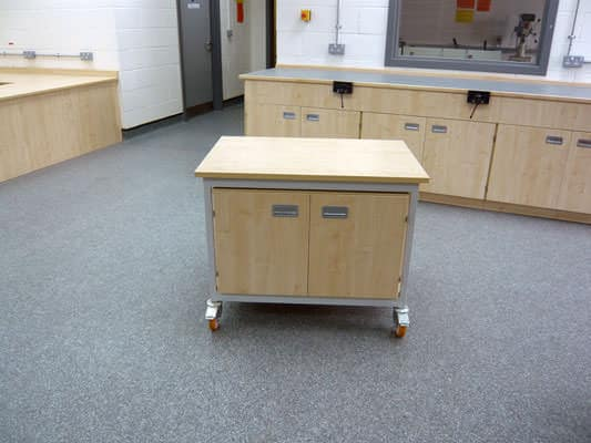 mobile cdt work bench and storage unit