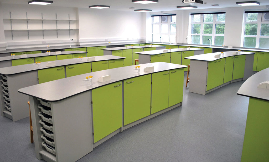 wing style lime green classroom for schools and colleges