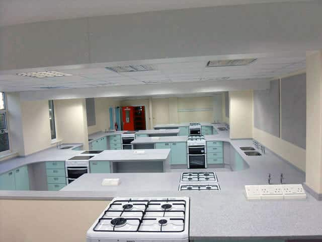 food technology teaching classroom installation by interfocus