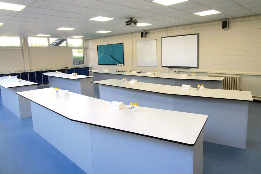 wing style school laboratory furniture