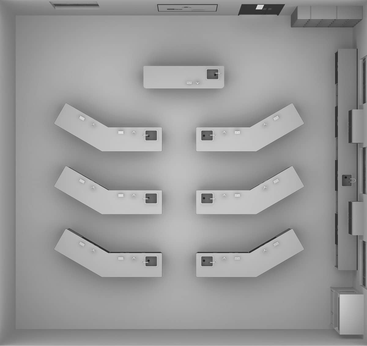 wings layout plan view science classroom furniture